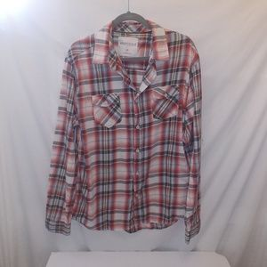 Aeropostale mens plaid shirt size L